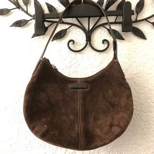COLE HAAN  Chocolate Leather/ Suede Hobo Bag